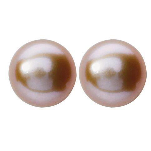 Sterling Silver Pink Fresh Water Pearl Earrings
