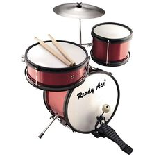 Junior Professional Drum Set Red 4 Piece