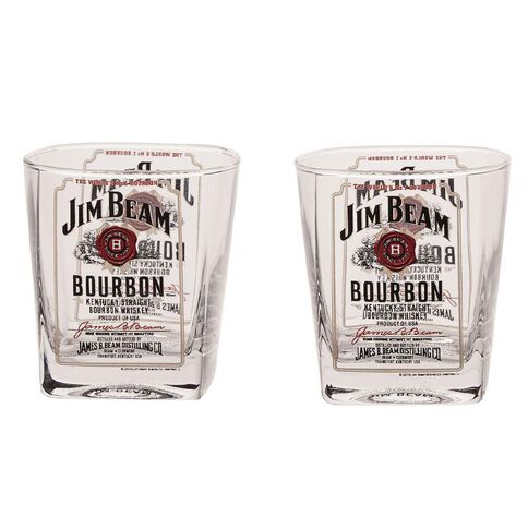 Jim Beam Spirit Glasses Set 2 Piece 250ml