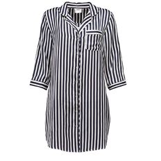 H&H Women's Stripe Satin Nightshirt