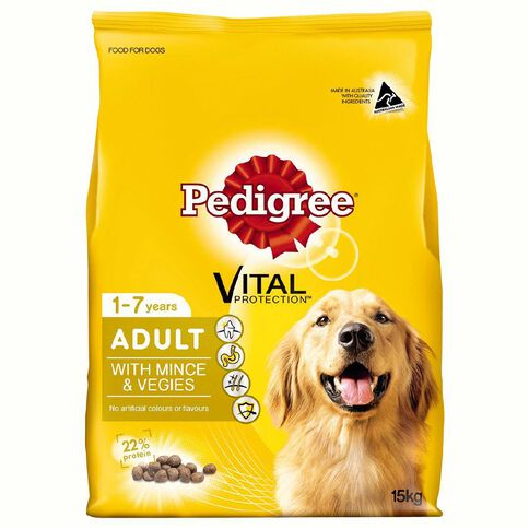 Pedigree Adult Complete Nutrition with Real Mince & Vegies 15kg