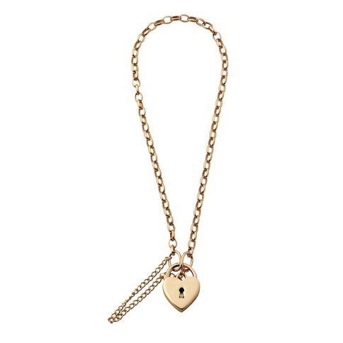 9ct Gold Padlock Belcher Bracelet