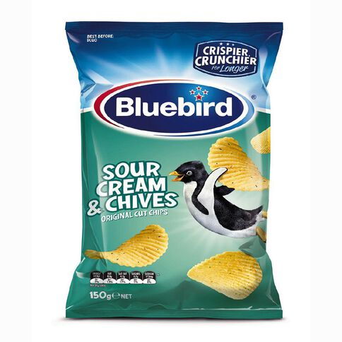 Bluebird Original Cut Sour Cream and Chives 150g