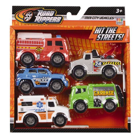 Road Rippers Mini City Vehicles 5 Pack Assorted