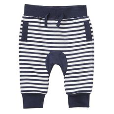 Hippo + Friends Baby Boy Gusset Print Trackpants