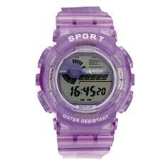 Active Intent Women's Digital Watch Purple