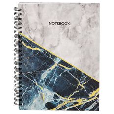 Stylo Marble Spiral Notebook with Gold Foil A4
