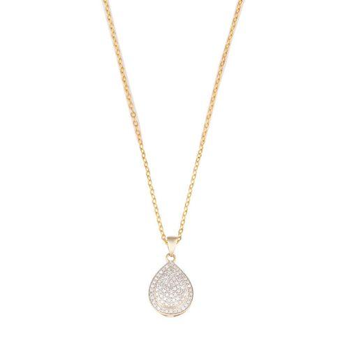 1/2 Carat of Diamonds 9ct Gold Diamond Pear Shape Pendant