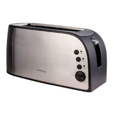 Living & Co Toaster 4 Slice Long Stainless Steel