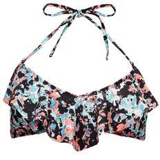 Beach Works Women's Frill Bikini Top