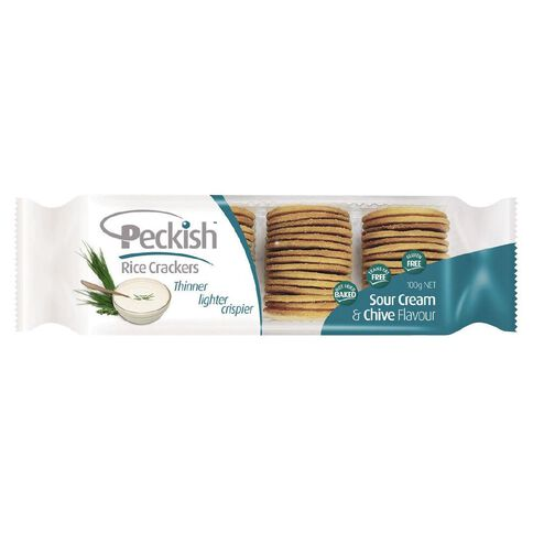 Peckish Thins Sour Cream & Chives 100g