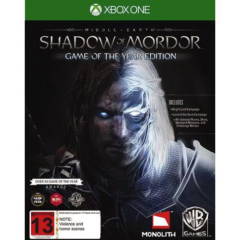 XboxOne Shadow of Mordor Game of the Year Edition