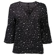Garage Lace Up Bell Sleeve Top