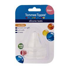 Tommee Tippee Silicone Vari-Flow Teat 0m+ 2 Pack