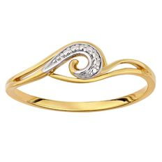 9ct Gold Diamond Swirl Ring