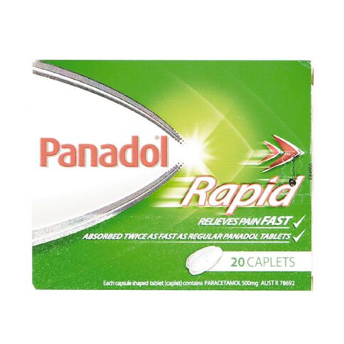 Panadol Rapid Caplets 20s - LIMIT OF 1 PER CUSTOMER