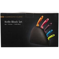 Harrison & Lane Coloured Knife Block Set 5 Piece