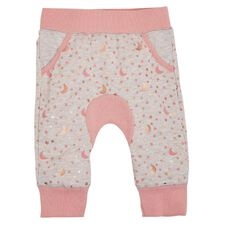 Hippo + Friends Baby Girl Print Gusset Trackpants