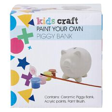 Kids' Art & Craft Paint Your Own Pig Bank