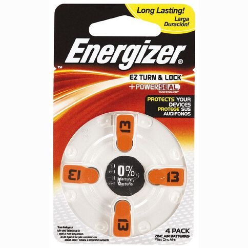Energizer Hearing Aid Battery AZ13 4 Pack