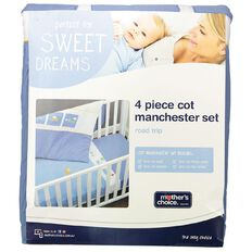 Mother's Choice Road Trip Manchester Set 4 Pack Blue