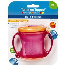 Tommee Tippee Cup Sip n Seal 4m+ Assorted Colours