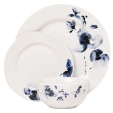 Harrison & Lane Floral Dinner Set 12 Piece Set Blue