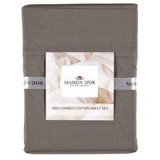 Maison d'Or Sheet Set 400 Thread Count Charcoal Queen