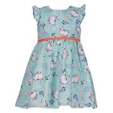 Hippo + Friends Toddler Girl Woven Party Dress