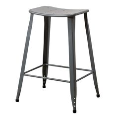 Solano Stool Distressed Paint Grey 66cm