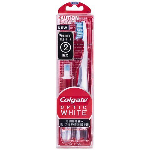 Colgate Toothbrush Optic White Medium + Whitening Pen