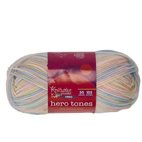 Knitwise Hero Yarn Hero Tones 8-Ply Baby 4 50g