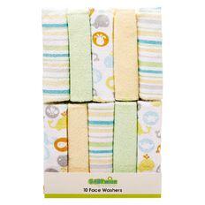 Lullaboo Facewasher Set Green 10 Pack