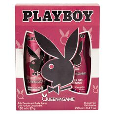 Playboy Queen of The Game Body Spray 150ml & Shower Gel 250ml