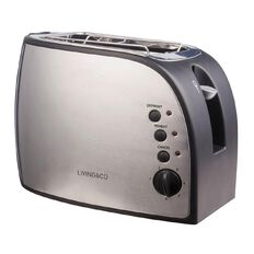 Living & Co Toaster 2 Slice Stainless Steel