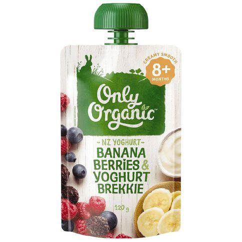 Only Organic Only Organic Banana Berries & Yoghurt Pouch 120g