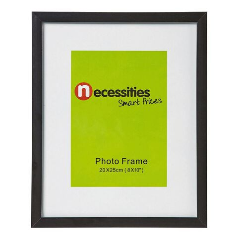 Necessities Brand Photo Frame Black 8in x 10in