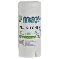 Maxcare Kitchen Tidy Bags Small 27L 30 Pack