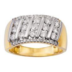 1 Carat of Diamonds 9ct Gold Diamond  Multi Channel Ring