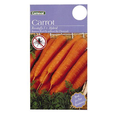 Carnival Seeds Carrot Resistafly F1 Hybrid
