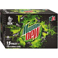 Mountain Dew Can 355ml 15 Pack