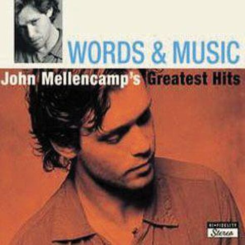 Words and Music CD by John Mellencamp 1Disc
