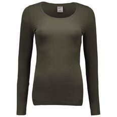 Basics Brand Women's Long Sleeve Scoop Neck Tee
