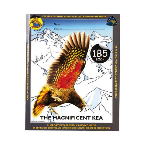 Clever Kiwi Kea 1B5 Book Ruled 7mm