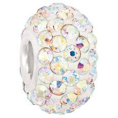 Ane Si Dora Sterling Silver Multi White Crystal Charm