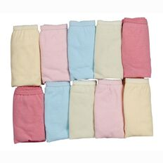 Basics Brand Girls' Briefs 10 Pack