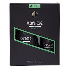 Lynx Africa Body Wash + Body Spray Duo Gift Set