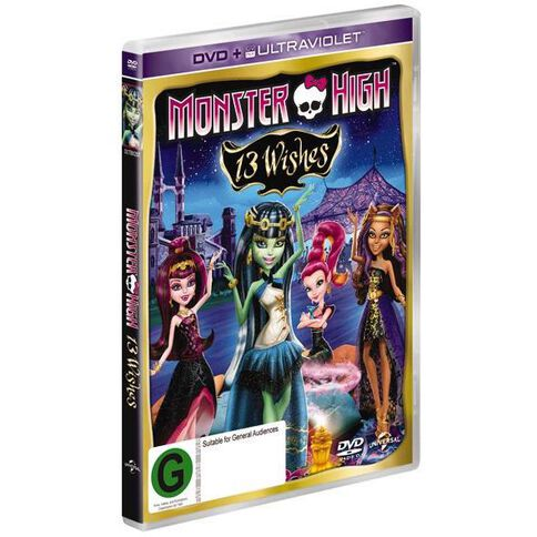 Monster High 13 Wishes DVD 1Disc