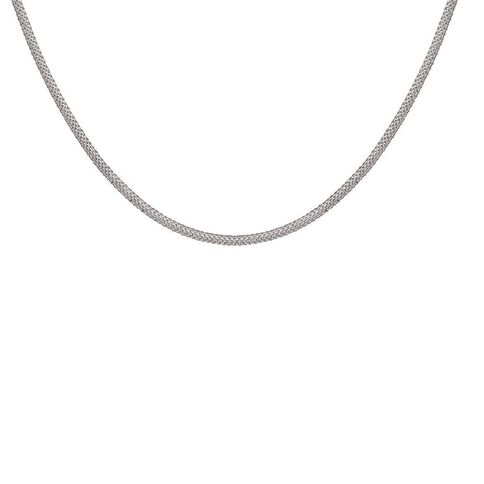 Sterling Silver Flat Snake Chain 45cm