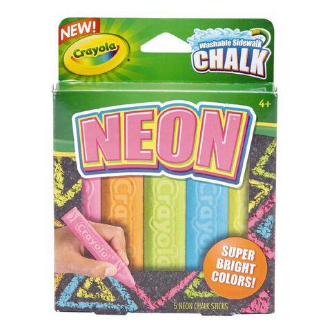 Crayola Sidewalk Chalk Special Effects Neon 5 Pack